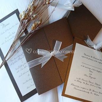 Invitación casamiento y menú