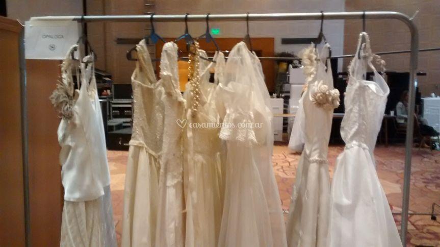 Perchero novias desfile