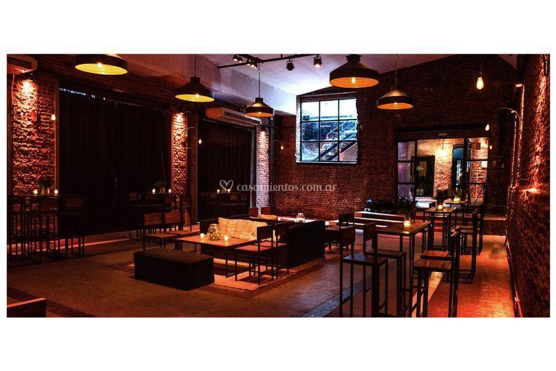 Salón recepción-bar