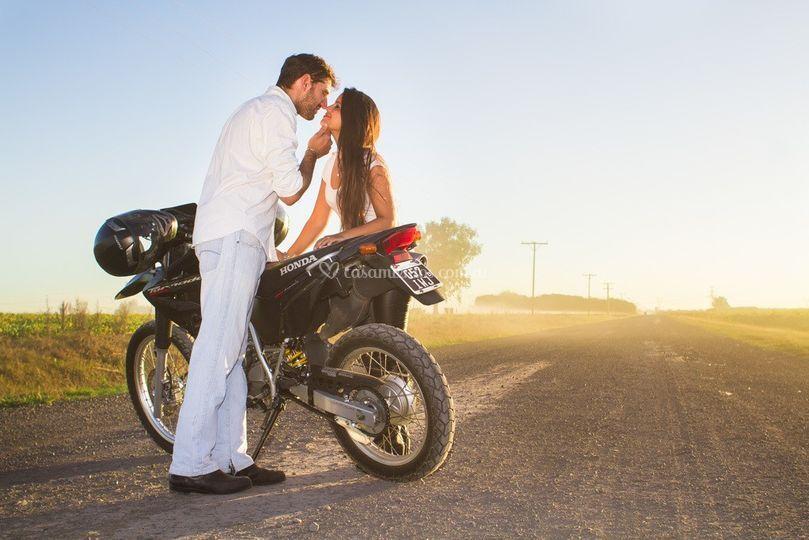 Romanticismo y motos