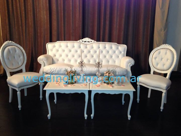 Wedding living for Sillones esquineros zona norte
