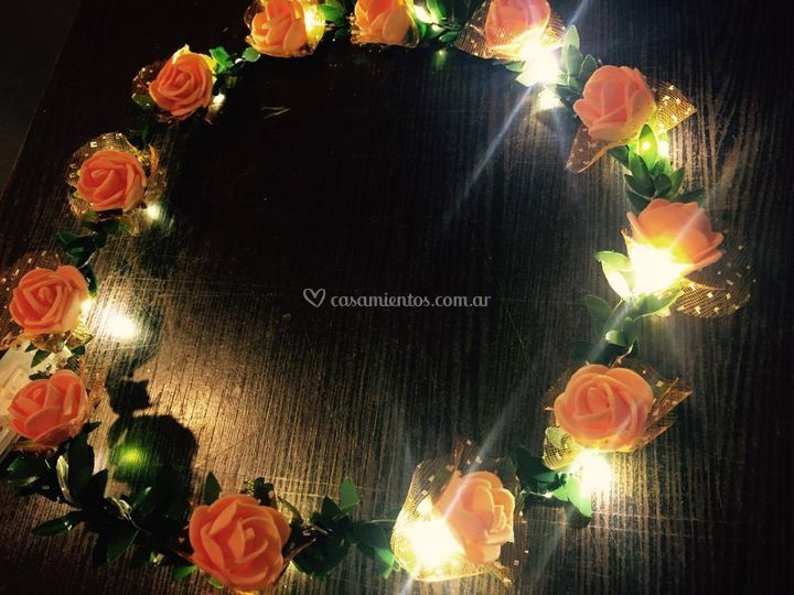 Tiara flores led
