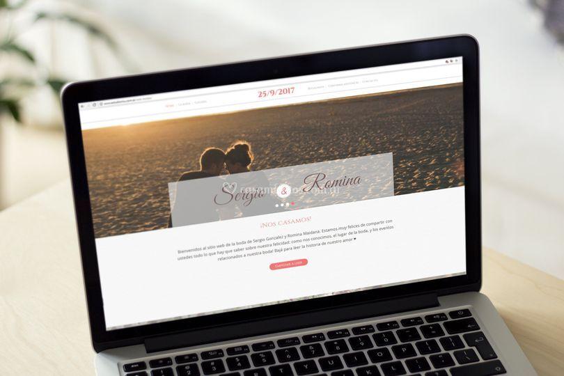 Sitio web para la boda