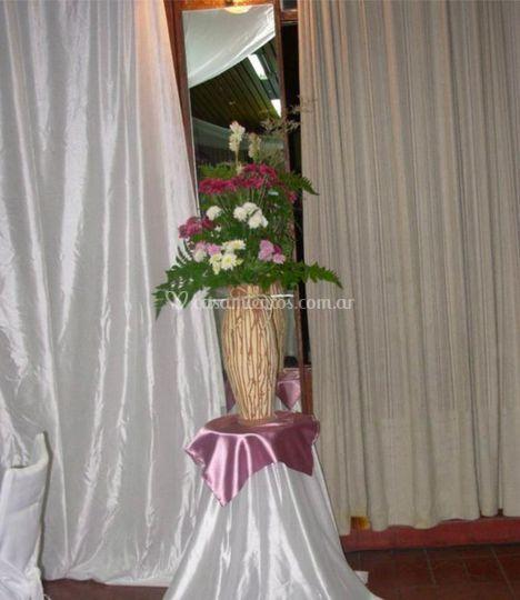 Manteles y flores