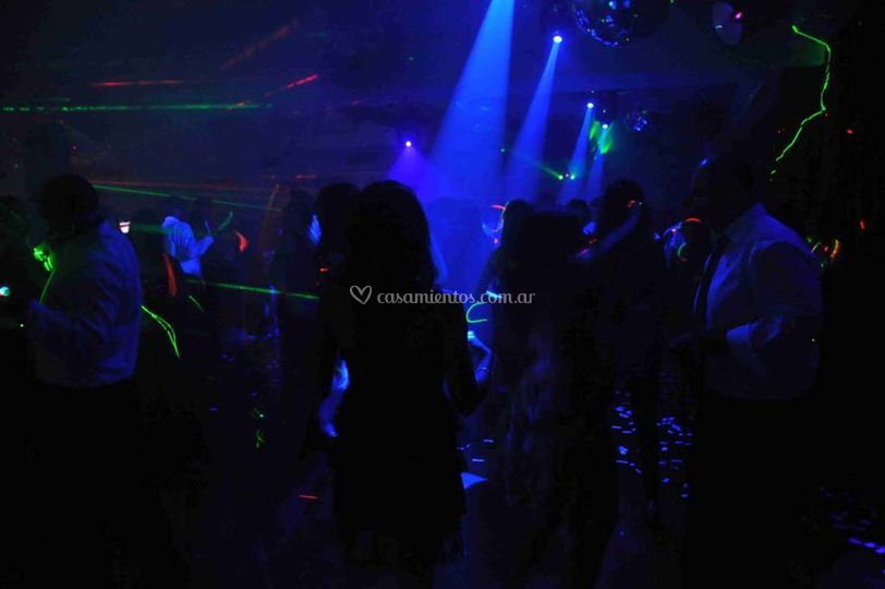 Robótica y laser de fiesta