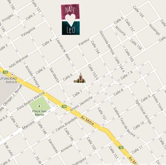 Mapa de la iglesia