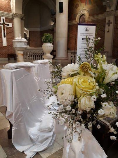 Bouquets bancos