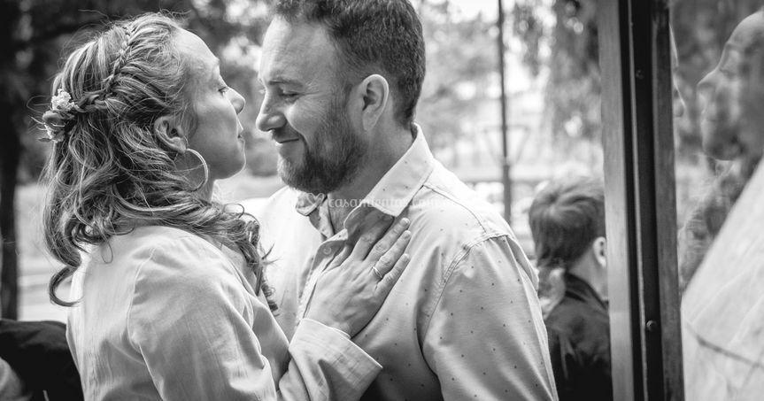 Reportaje de bodas espontaneo