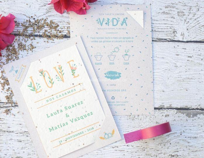 Invitaciones de boda para Veoverde