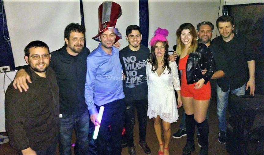 Con los novios en Martínez