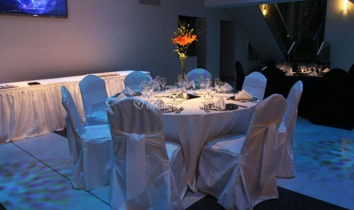 Elegantes montajes del banquete