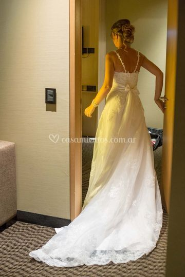 La novia se prepara