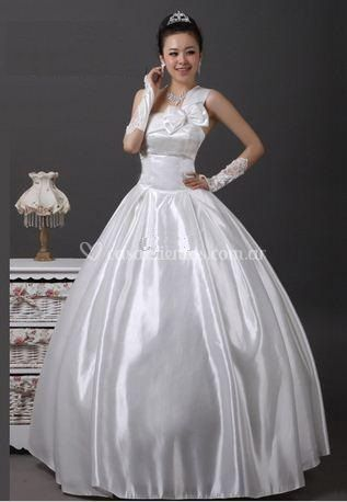 Vestido de saten imperial