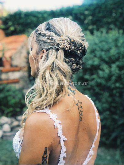 Peinado novia y tocado