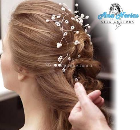 Peinado para novia con tocado