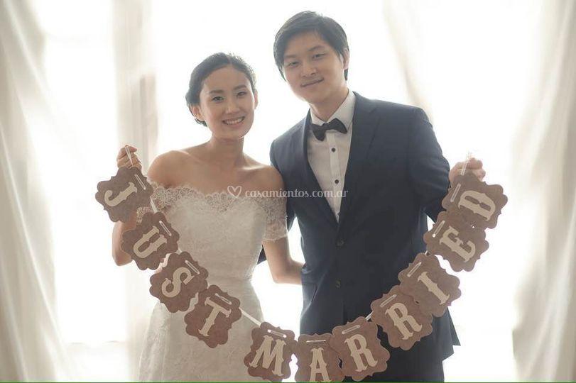 Foto real de casamiento