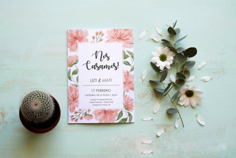 Invitación de casamiento
