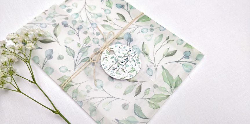 Tarjeta aquarella vegetal