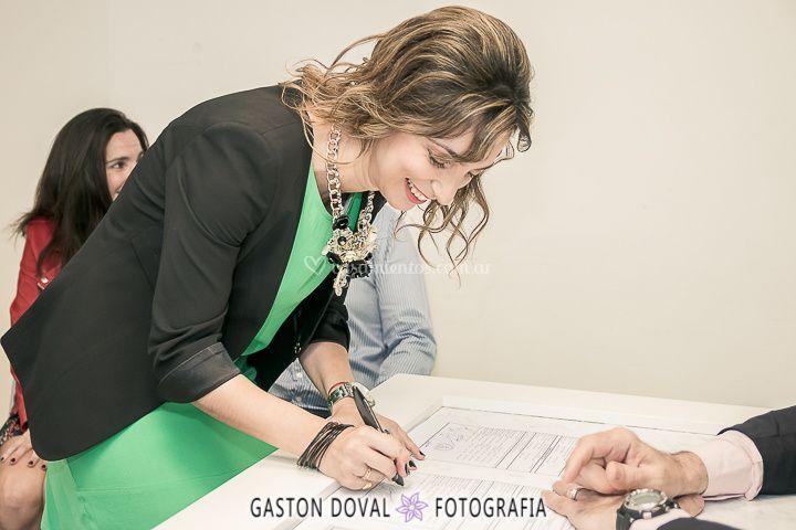 Firmando unión