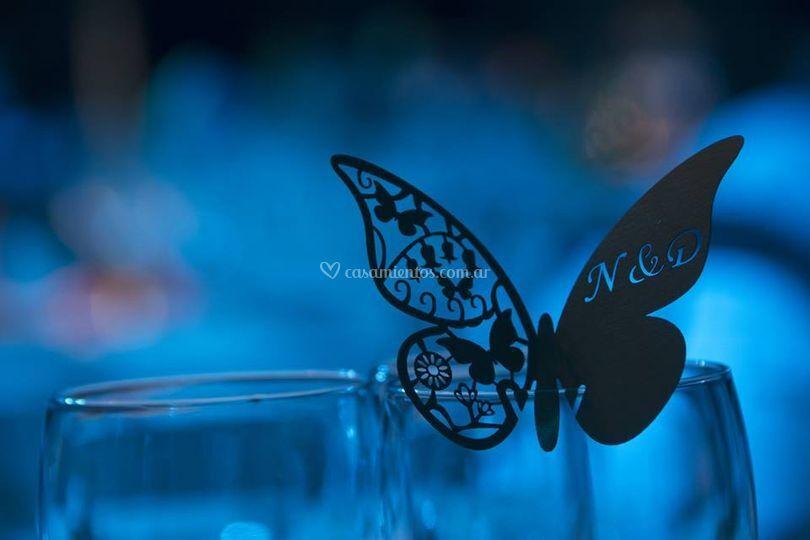 Mariposas para decorar copas
