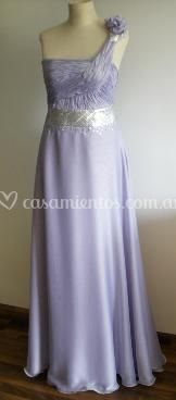 Vestido drapeado con corset interno