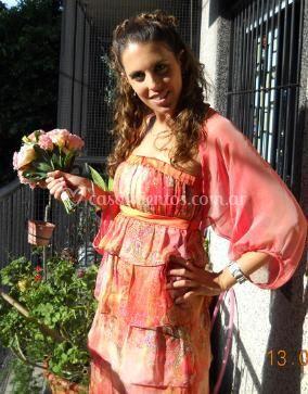 Vestido de gasa con busto drapeado de Algo Azul Vestidos