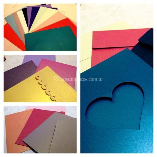Variedad de sobres y colores