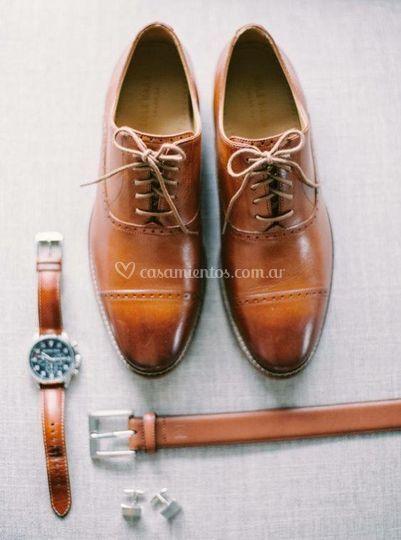 Zapatos cinturones de hombre