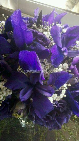 Ramo de novia con iris