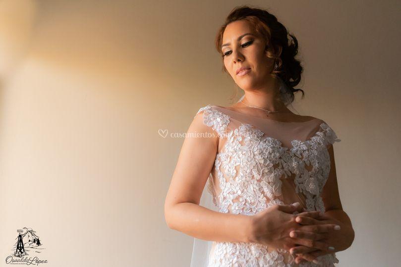 La elegancia de una novia