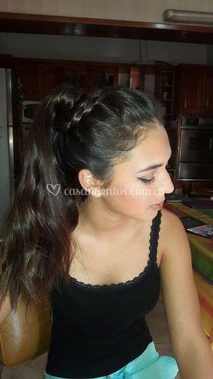 Peinado muy delicado