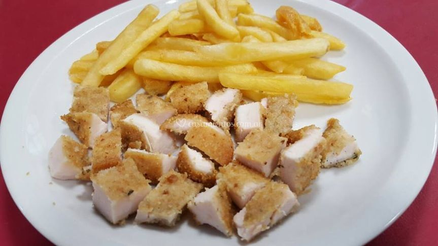 Milanesa menú niños