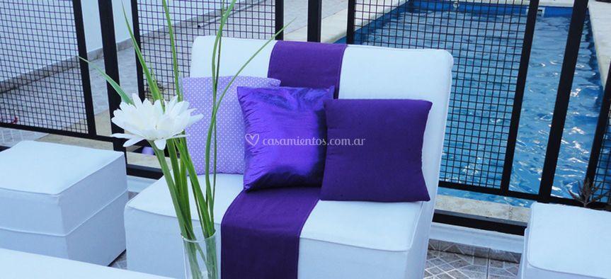 Decoración violeta