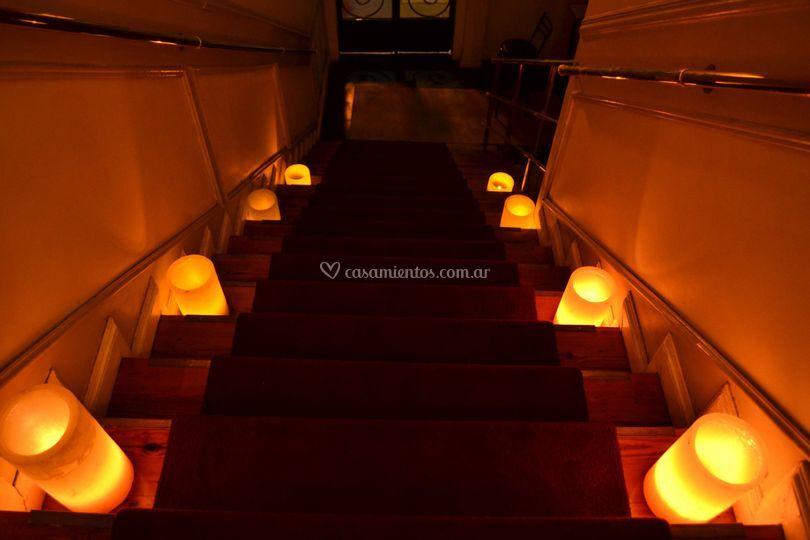 Escalera recepción