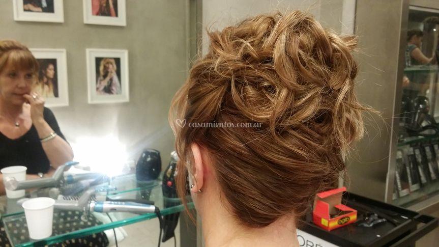 Peinado de atrás