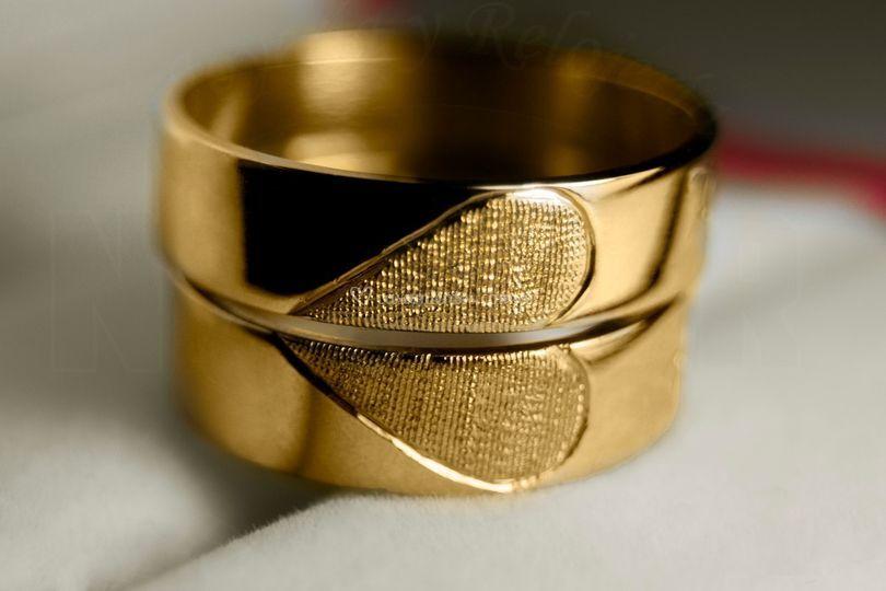 Par Alianzas oro corazon 8 gr