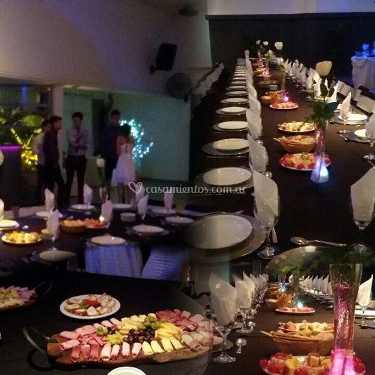 Menú en mesa