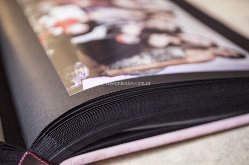 Álbum de fotos tapa cuero