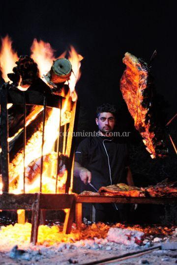 Costillares al fuego