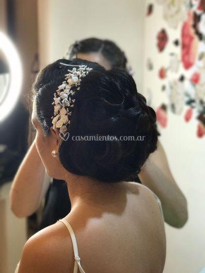 Peinado clásico para novias