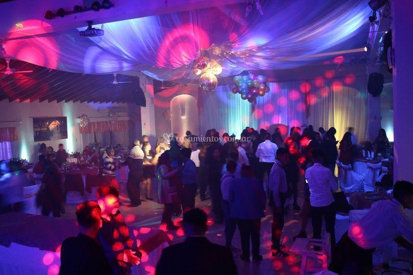 Baile show de luces