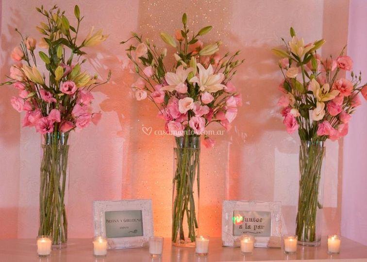 Flores y candelas