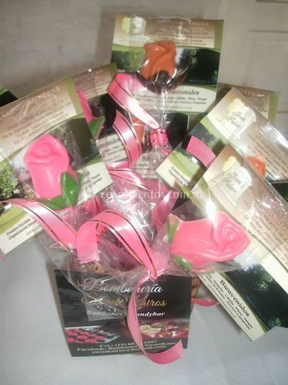 Souvenirs Rosas de chocolate