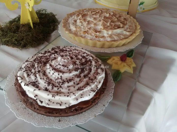 Brownie y Lemon Pie