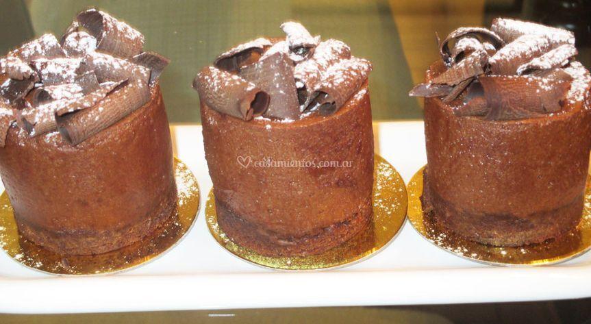 Mini de mousse de chocolate
