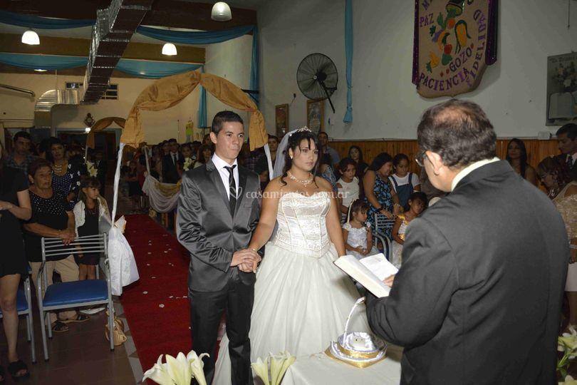 Ceremonia religiosa de la boda
