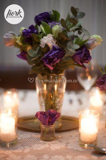 Centro violetas