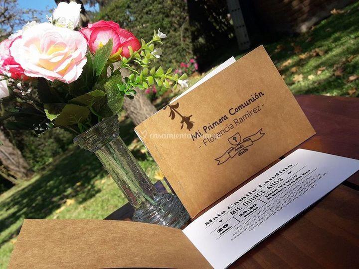 Invitaciones tipo libro