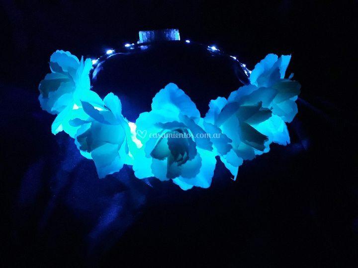 Corona rosas led