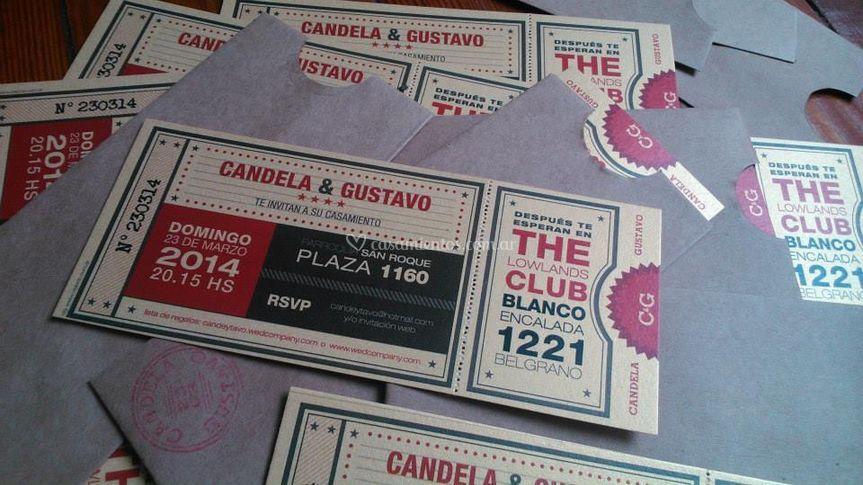 Invitación Candela y Gustavo